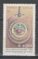 Chile - CRIMINAL DEP. 1983 MNH - Chile