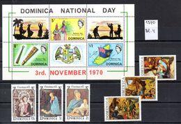Dominica  - 1970    Lot +  Block 4 - Dominica (1978-...)