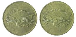 02425 GETTONE JETON TOKEN COLOMBIA GAMING PLAY MACHINE SALON DE JUEGOS MONEY MONEY - Tokens & Medals