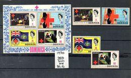 Dominica  - 1970    Nr.307/310 +  Block 6 - Dominica (1978-...)