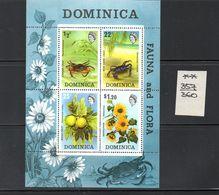 Dominica  - 1970  Nr.303/306 +  Block 5 - Dominica (1978-...)