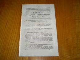 Mâcon 1832:Administrations Des Etablissements De Bienfaisance.Contributions Directes, Portes, Fenêtres ... - Documents Historiques
