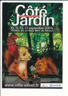 Carte Pub Côté Jardin Théatre De Verdure Olivet (Loiret) Parc Du Poutyl Animal écureuil CP 5/3 - Publicité