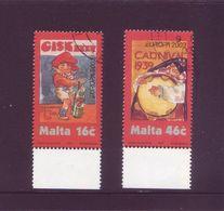 Malta 2003 - Europa, L'Arte Del Manifesto, 2v Usati Con Annullo Rotondo. Serie Completa - Malta