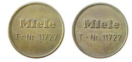 04327 GETTONE JETON TOKEN WASHING MACINE LAUNDRY MIELE MOD. T-NR. 11727 - Allemagne