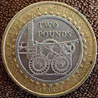 Reino Unido - 2 Libras - 2004 - KM 1049 - 200 Aniversário Da Locomotiva. - 1971-…: Dezimalwährungen