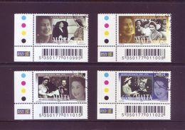 Malta 2003 - Incoronazione Di Elisabetta, 4v Usati Con Annullo Rotondo. Serie Completa - Malte