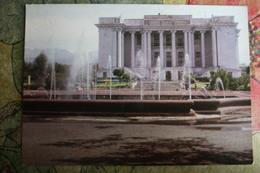 TAJIKISTAN  Dushanbe  Capital.  Academic Theater - Old USSR Postcard  - 1974 - Stationery - Tajikistan