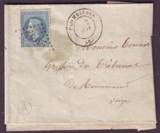 """VOSGES - LAC - Tàd T17 PLOMBIERES + GC 2895 Sur N° 29 + BR """"A"""" (Bellefontaine, Identifiée) Pour Remiremont (82) - Postmark Collection (Covers)"""