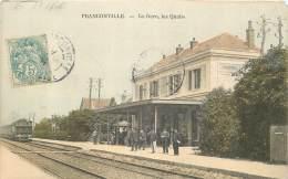 95 - FRANCONVILLE - La Gare, Les Quais - Train Couleur 1905 - Franconville