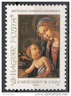 "Ungheria 1990 Sc. 3276  ""Madonna Del Libro""  Quadro Dipinto Da S. Botticelli  Nuovo MNH Painting Tableau Magyar Hungary - Madones"