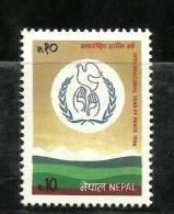 Nepal, 1986, International Year Of Peace, MNH, (**) - Nepal