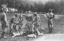 CPA 80 AMIENS TIRAILLEURS MAROCAINS PREPARATION D UN MECHOUI GUERRE 1914 - Amiens