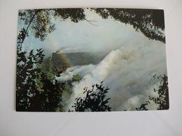 Postcard Postal Zimbabwe Rhodesia Close Up Of Devil`s Cataract In Flood Victoria Falls - Zimbabwe