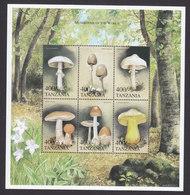 Tanzania, Scott #1996-1997, Mint Never Hinged, Mushrooms, Issued 1999 - Tanzanie (1964-...)