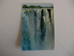 Postcard Postal Zimbabwe Rhodesia Close Up Of Man Falls Victoria Falls - Zimbabwe