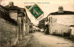 CPA - Charente Maritime - Thors - Rue Principale - France