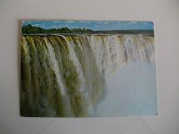 Postcard Postal Zimbabwe Rhodesia Man Falls Victoria Falls - Zimbabwe