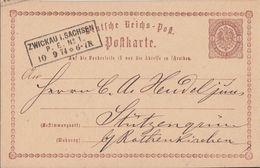 DR Ganzsache R3 Zwickau I. Sachsen P. E. Nr.1 10.9.74 - Briefe U. Dokumente