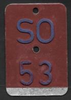 Velonummer Solothurn SO 53 - Number Plates