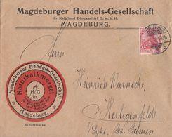 DR Werbebrief Naturkalkmergel Magdeburg EF Minr.86I Magdeburg - Deutschland
