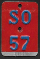 Velonummer Solothurn SO 57 - Number Plates