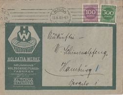 DR Werbebrief Holsatia-Werke Altona Ottensen Mif Minr.268,270 Altona 23.8.23 - Deutschland