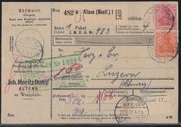 DR Paketkarte Mif Minr.3x 115,141,145 Altena 26.10.20 - Deutschland