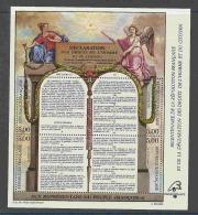 BLOC FEUILLET  N°  11    **  DROITS DE L HOMME  1ER CHOIX - Mint/Hinged