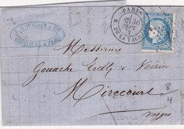 376   LAC  CERES  60  -  30.9.72  De  PARIS  à  MIRECOURT - Postmark Collection (Covers)