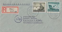 DR R-Brief Mif Minr.881, 885 Wien 3.5.44 - Briefe U. Dokumente