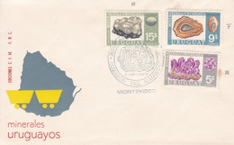 FDC - MINERALES URUGUAYOS. MONTEVIDEO.-URUGUAY-TBE-BLEUP - Uruguay