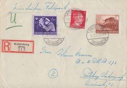 DR R-Brief Mif Minr.788,876,883 Woldenberg 2.7.44 - Deutschland