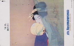 Télécarte Japon / 110-115465 - Peinture Tradition - FEMME - GEISHA - Woman Japan Painting Phonecard - Frau TK - 3583 - Culture