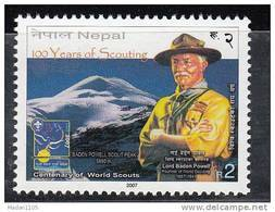 NEPAL, 2007, 100 Years Of Scouting Centenary,Scout, Mountain,   MNH, (**) - Nepal