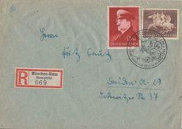 DR R-Brief Mif Minr.772,780 SST München 27.7.41 Sonder-R-Zettel München-Riem Rennplatz - Briefe U. Dokumente