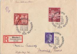 DR R-Brief Mif Minr.785,862,863 SST München 9.11.43 - Deutschland