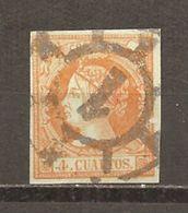 España/Spain-(usado) - Edifil  52-RC-1 (Madrid) - Yvert  48 (o) - 1850-68 Kingdom: Isabella II