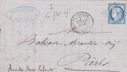 376   LAC  CERES  60  -  15.6.74  - TOULON  à  PARIS - Postmark Collection (Covers)