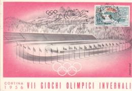 Carte Maximum De 1956 Non Circulé - Invierno 1956: Cortina D'Ampezzo