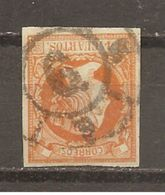 España/Spain-(usado) - Edifil  52-RC-6 (Málaga) - Yvert  48 (o) - 1850-68 Kingdom: Isabella II