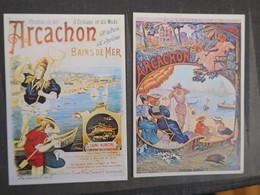TI - Reproduction D'affiche - Lot De 2 Cartes - ARCACHON - Pubblicitari