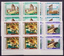 Lebanon Liban 1967 International Tourist Year Complete Set In MNH Block Of 4 - Lebanon