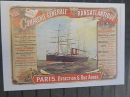 TI - Reproduction D'affiche - COMPAGNIE GENERALE TRANSATLANTIQUE - Werbepostkarten