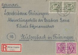 AM-Post R-Brief Mif Minr.2x 23, 2x 29 Sörup (Angeln) 26.3.46 - Bizone
