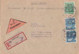 Bizone R-NN-Brief Mif Minr.2x 43I, 51I Duisburg Geprüft Schlegel BPP - Bizone