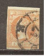 España/Spain-(usado) - Edifil  52-RC-21 (Burgos) - Yvert  48 (o) - 1850-68 Kingdom: Isabella II
