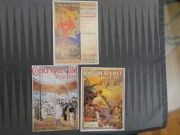 TI - Reproduction D'affiche - LOT DE 3 CARTES - CONTREXEVILLE - Publicité