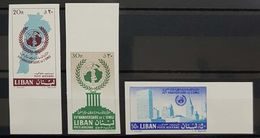 Lebanon Liban 1961 UN, 15th Anniversary Complete Imperf Set - Lebanon