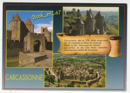 {76387} 11 Aude Cité De Carcassonne , Multivues ; Divers Aspects - Carcassonne